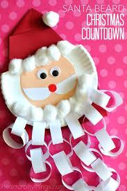 santa beard christmas countdown craft christmas countdown crafts
