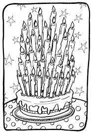 15 dessins de coloriage gateau anniversaire à imprimer
