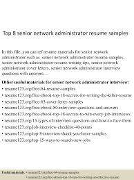 Networking Administrator Resume Top8seniornetworkadministratorresumesamples 150516013958 Lva1 App6891 Thumbnail 4 Jpg Cb U003d1431740444