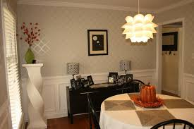 dining room paint ideas with chair rail fabric stand on wooden
