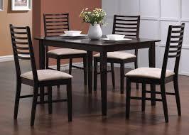 dark espresso finish 5 pc modern dinette with ladder back chairs