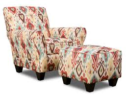 Accent Chairs And Ottomans Collection In Accent Chair With Ottoman Grey Circular Fabric