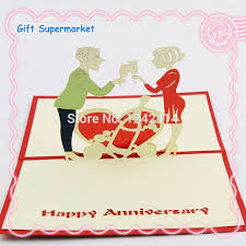 happy wedding anniversary romantic greeting cards 3d pop up