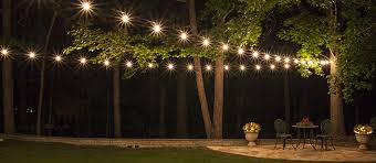 Hanging Patio String Lights Outdoor Style How To Hang Commercial Grade String Lights Blue I