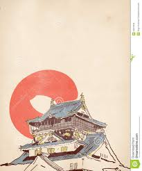 japanese house drawing royalty free stock photos image 34613318