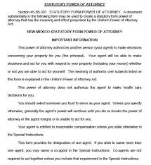 free durable power of attorney new mexico form u2013 adobe pdf
