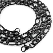 black chain necklace images Black and gunmetal chains and necklaces iced out and solid jpg