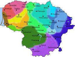 Map Og File Map Of Dialects Of Lithuanian Language Png Wikimedia Commons