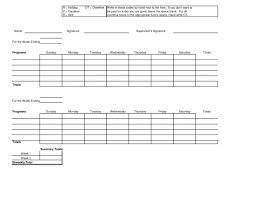 template weekly timesheet template