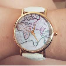 World Map Watch Adorn The Hunter U2014 World Map Watches Available With Black White