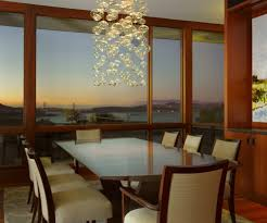 impressive bubble glass chandelier dining room contemporary with