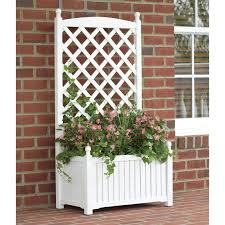 planter with trellis in pot u2013 outdoor decorations
