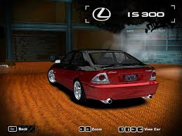 lexus is300 red need for speed most wanted lexus is300 nfscars