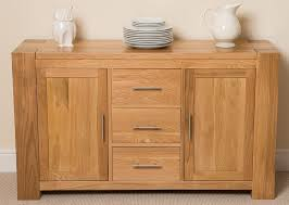 kuba solid oak large sideboard cabinet 140 x 42 x 82 cm amazon