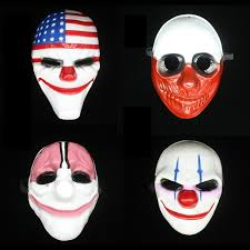 scary masks payday 2 mask dallas horror chainsaw clown