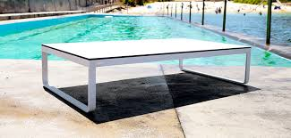 Modern Aluminum Outdoor Furniture by Contemporary Coffee Table Hpl Aluminum Rectangular