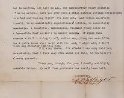 holden caulfield 1957 letter from j d salinger explains why catcher in the rye