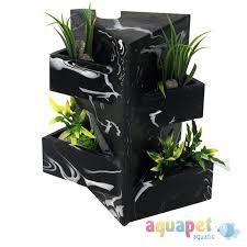 fluval edge black marble aquarium ornament fish tank decor ebay