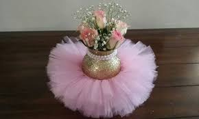 tutu centerpieces for baby shower pink and gold pearl tutu centerpieces blupla