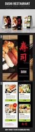 sushi restaurant table tent template by rapidgraf graphicriver