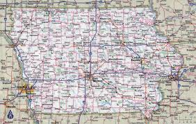 Interstate Map Of United States by Large Detailed Roads And Highways Map Of Iowa State With Cities