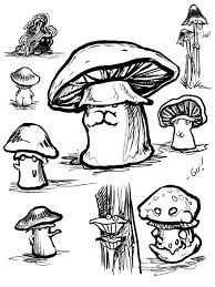 mushroom doodles by ursulav on deviantart