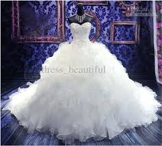wedding poofy dresses actual images luxury royal pearl beading