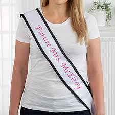 satin sash personalized bachelorette printed satin sash