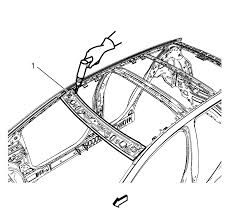 chevrolet sonic repair manual roof front header panel replacement