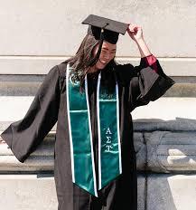 graduation stoles all gifts emerald graduation stole with white trim graduation
