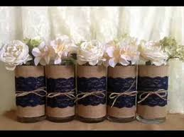 jar vases rustic wedding jar vases candles burlap and lace