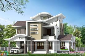 1500 sq ft 4 bedroom sloping roof mix modern home design by