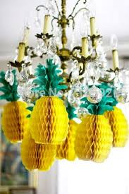 luau table centerpieces 8pcs pineapple shape honeycomb decoration pineapple garland table