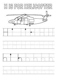 free letter g alphabet learning worksheet for preschool h
