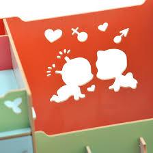 baise bureau mode diy en bois maquillage organisateur kawaii baiser home decor