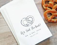 pretzel bags for favors we the knot pretzel bag wedding favor by mavora etsy