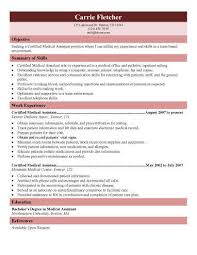 Resume For Medical Assistant Student Astonishing Decoration Resume Templates Medical Assistant