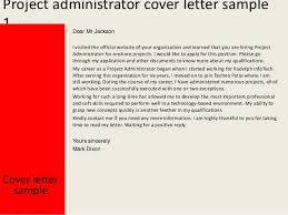 Cover Letter For Project Administrator project administrator cover letter