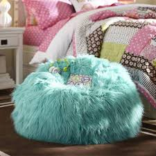 Comfy Chairs For Bedrooms by Bean Bag Teen Bedroom Chairs With Fur In Blue Color Cool And