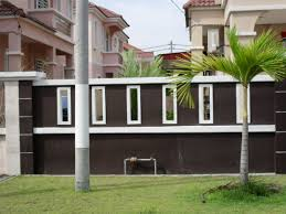 wall fence modern homes design philippines fence fences serve