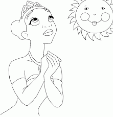 tiana coloring pages coloring