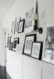 Narrow Picture Ledge 15 Ways To Decorate A Hallway Remodelaholic
