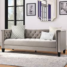 Tufted Chesterfield Sofa by Gray Tufted Sofa Wayfair