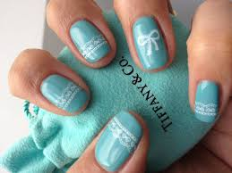 tiffany u0026 co inspired nail art design with stamping youtube