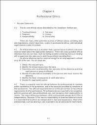 auditing chapter 4 solution manual chapter 4 professional ethics