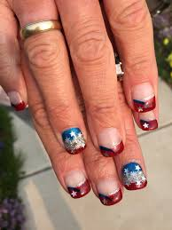 memorial day patriotic it 4th of july stamped gel nails gel