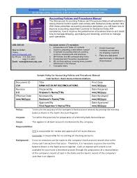 100 department manual template accounts receivable policies and