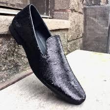 giorgio brutini black sequin loafers u2013 dudes boutique