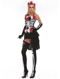 titivate skeleton day of the dead costume womens sugar