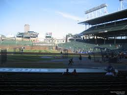 Chicago Cubs Seat Map by Wrigley Field Section 115 Chicago Cubs Rateyourseats Com